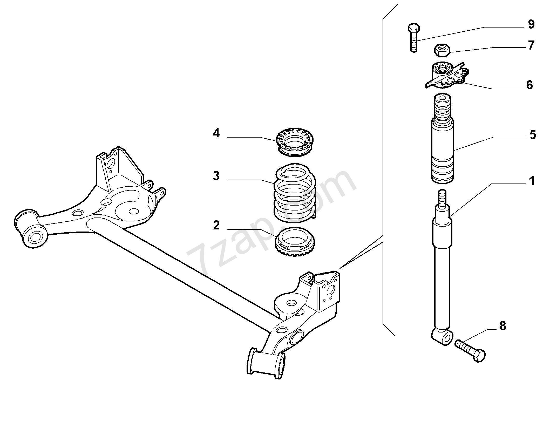 Rear Shock Absorbers And Springs Alfa Romeo Mito My2011 2011 2013